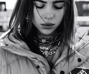 bijoux, black & white, and brunette image