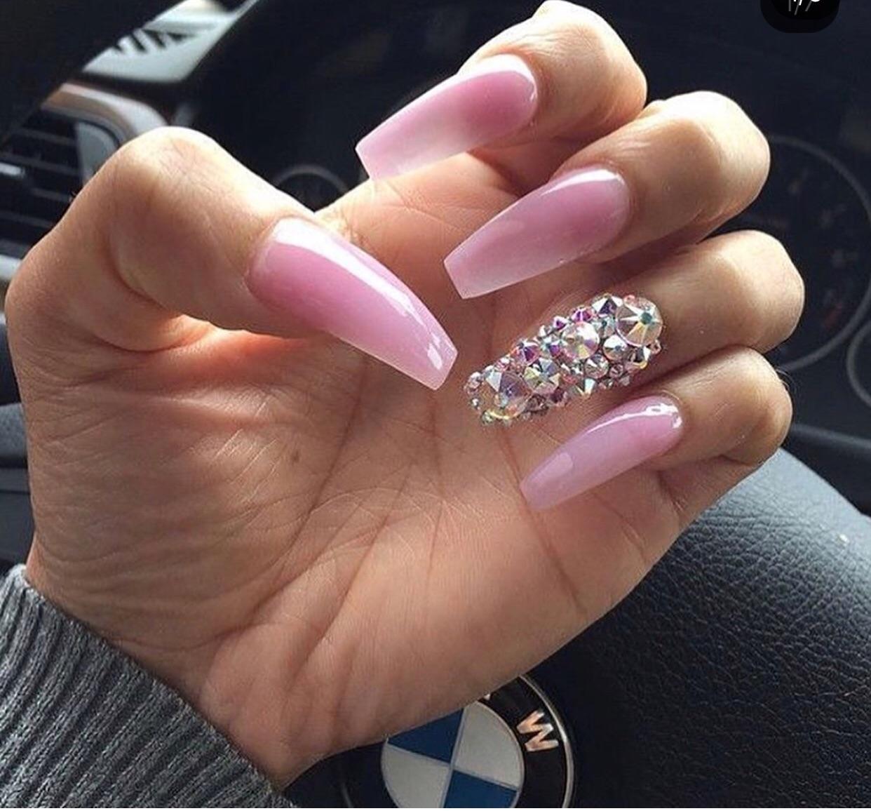 bling, pink, and nails image