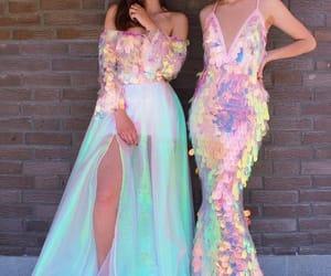 dress, mermaid, and pink image