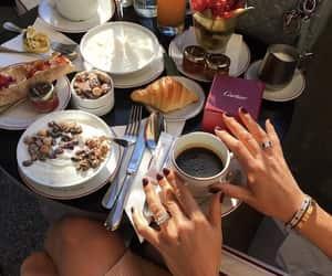cake, coffee, and creative image