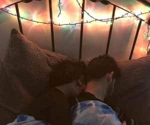 bed, hug, and Relationship image