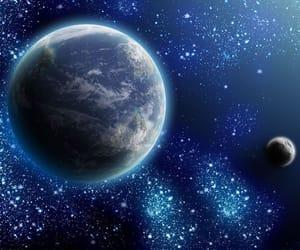 luna, moon, and planeta tierra image