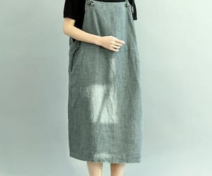 etsy, linen dresses, and gray dress image