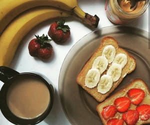 banana, brunch, and fitness image