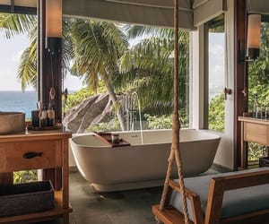 nature, bathroom, and home image