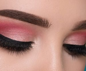 eye shadow, make up, and pink image