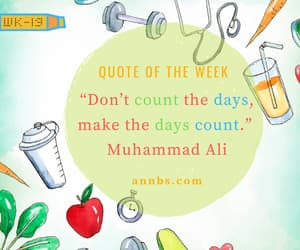 count, quote of the week, and never stop image