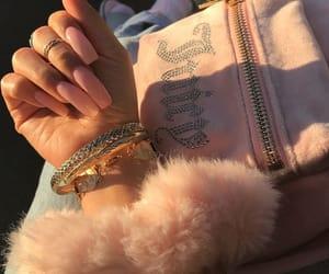 bag, nails, and pink image