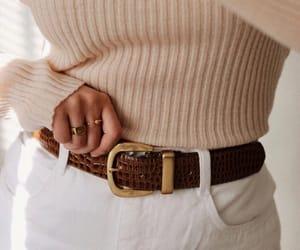 beige, belt, and fashion image
