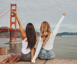 fashion, golden gate bridge, and look image