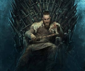 vikings, game of thrones, and iron throne image