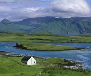 scotland, house, and mountains image