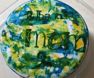 art, cake, and yellow image