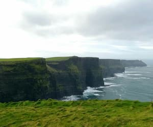 green, ireland, and ocean image
