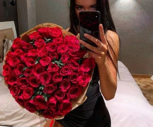 girl, roses, and tumblr image