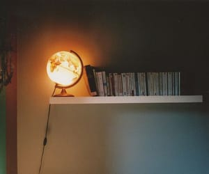 light, room, and books image