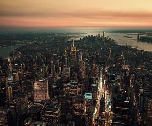 city, manhattan, and new york image
