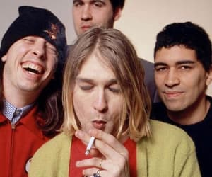 kurt cobain, nirvana, and cigarette image