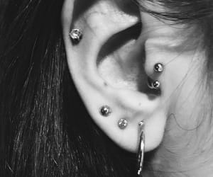 black, ear, and helix image
