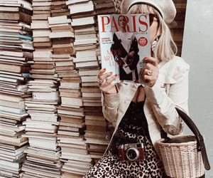 magazine, books, and france image