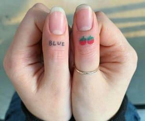 strawberry, tattoo, and theme image