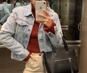jean jacket, accesorios, and iphone xr image