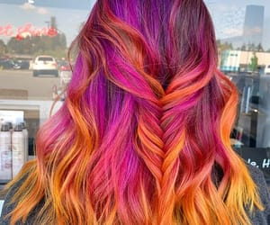 pinkhair, rainbowhair, and coloredhair image
