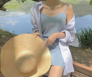 blue, korean fashion, and soft image