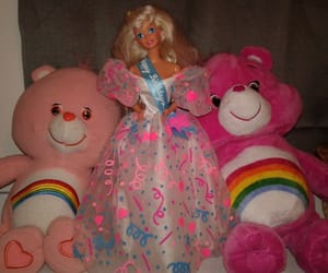 90s, barbie, and care bears image