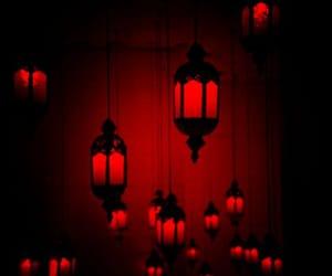 light, lantern, and red image