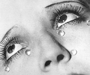 Man Ray, tears, and black and white image