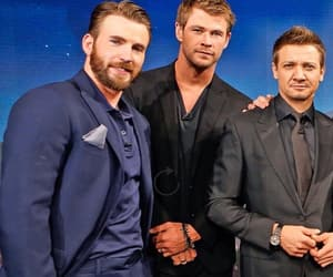 chris evans, chris hemsworth, and jeremy renner image