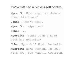 funny, sherlock, and mycroft holmes image