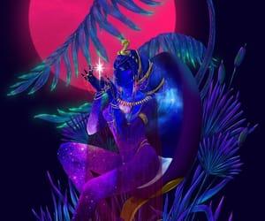 egypt, goddess, and nut image