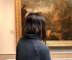 art, girls, and museum image