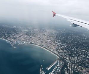 beach, blue, and flight image