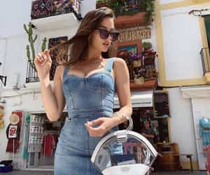 denim, dress, and fashion image