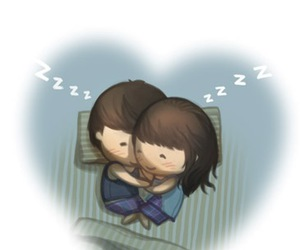 love, couple, and cuddling image