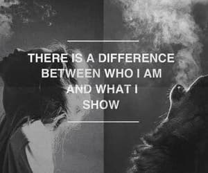 who i am, there is a difference, and what i show image