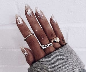 beautiful, rings, and glitter image