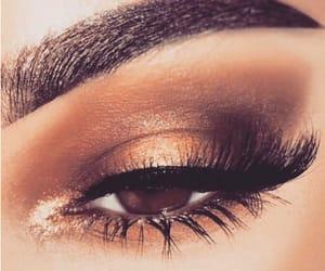 bronze, brown, and eye makeup image