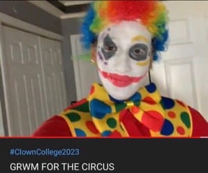 clown, meme, and twitter image