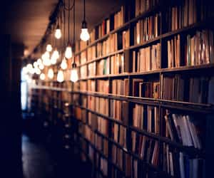 atmosphere, books, and bookshelf image