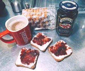 coffee, mermelada, and red raspberry image