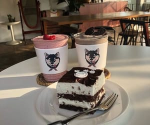 food, cafe, and cake image