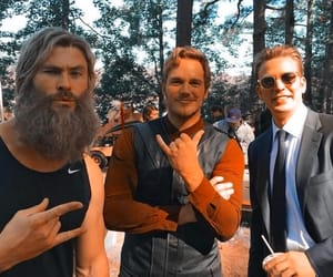 chris evans, chris hemsworth, and chris pratt image