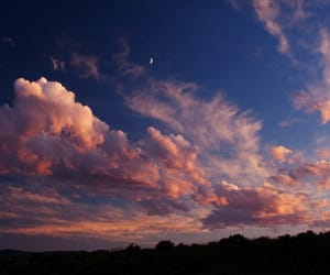 sky, moon, and clouds image
