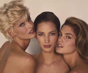 Christy Turlington, beauty, and cindy crawford image