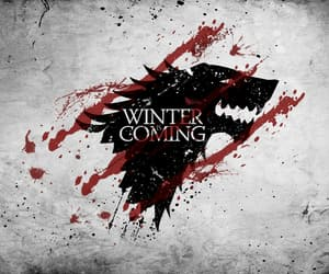 got, a song of ice and fire, and winter is here image