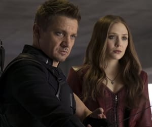 hawkeye, scarlet witch, and jeremy renner image
